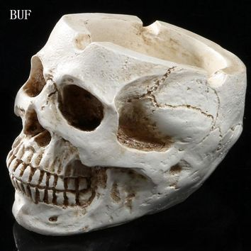 Skull Skulls Halloween Fall BUF Resin Craft Statues For Decoration  Ashtray Creative Gift  Figurines Sculpture Home Decoration Accessories Ashtray Calavera