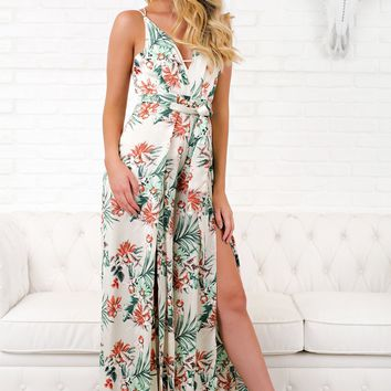 Iggy Floral Jumpsuit (Ivory)