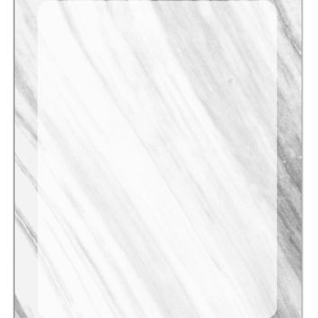 White Marble Pattern Aluminum Dry Erase Board All Over Print by TooLoud