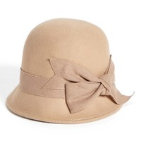 Nordstrom Large Bow Wool Felt Cloche | Nordstrom