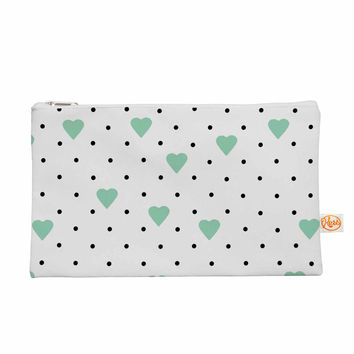 "Project M ""Pin Point Polka Dot Mint"" Green White Everything Bag"