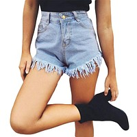 High Waisted Denim Shorts Women Fashion Ripped Jeans Shorts Causal Women Casual Hot Shorts