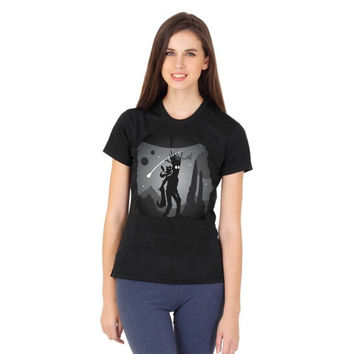 groot and rocket racoon at night women tshirt ----- size S,M,L,XL,2L,3XL