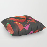 All the Lights Floor Pillow by DuckyB