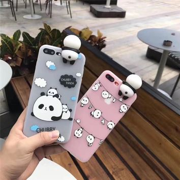 Phone Cases For iphone 6 case 6s 6plus cute cartoon panda soft tpu silicon case back cover coque for iphone 7 case 7Plus fundas