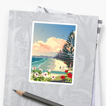'Orewa Beach, New Zealand' Sticker by contourcreative