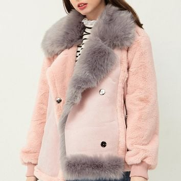 Sherry Faux Fur Shearling Coat