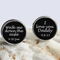 Father Of The Bride Cufflinks, Wedding Cuff Links, Keepsake Cufflinks