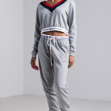 Tommy Hilfiger Retro Jogger in Heather Grey