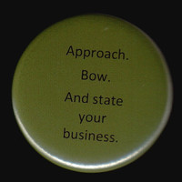 How To Approach Me Button by kohaku16 on Etsy