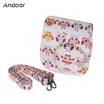 Andoer PU Camera Bag Protective Case Pouch for Fujifilm Instax Mini 8+ 8s 8