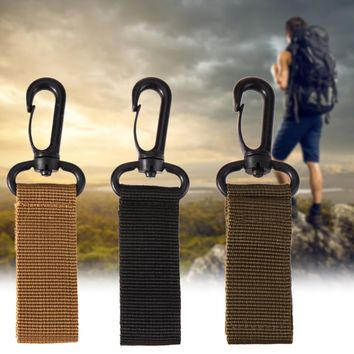 Portable Outdoor Camping Tactical Belt Carabiner for Backpack Hook Molle Hook Support Belt Multi Tools Survival