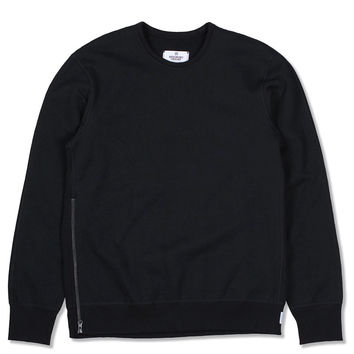 Heavyweight Side Zip Crew (Black)