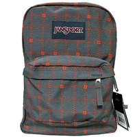 JanSport Classic SUPERBREAK BACKPACK - Shady Grey Stitch Plaid