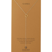 Gold-Dipped Karma Y-Necklace - Dogeared