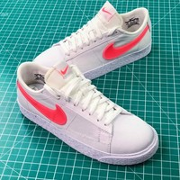 Nike Sportswear Blazer Low White Red Women's Sneakers - Best Online Sale