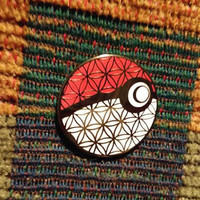 Flower of Life Sacred Geometry G Anime Ball Festival Lapel Hat Pin w/ Free Bassnectar Bumper Sticker Lot