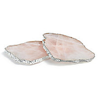 Rablabs - Kivita Rose Quartz Coasters/Set of 2 - Saks Fifth Avenue Mobile