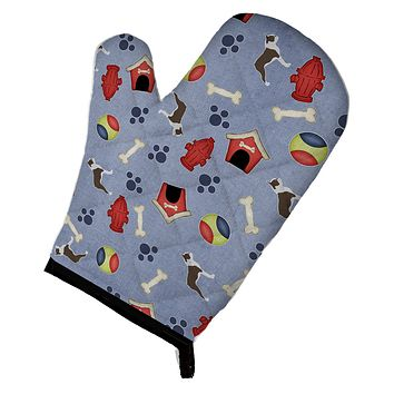 Boston Terrier Dog House Collection Oven Mitt BB3944OVMT