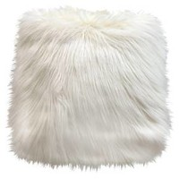 Threshold White Faux Fur Pouf : Target
