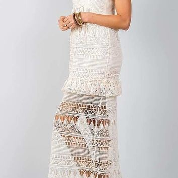 Summer Maxi Dress Bohemian Crochet Lace
