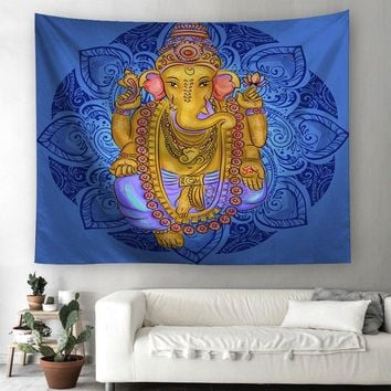 Indian Religion Ethnic Culture Printed Wall Hanging Tapestry Polyester Fabric Wall Decor Beach Towel Bedspread Picnic Blanket