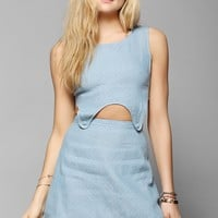 Afends Button Cutout Waist Chambray Dress - Urban Outfitters