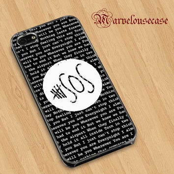 5SOS Quote Black Design Wherever You Are custom case for all phone case