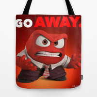 INSIDE OUT ANGER Tote Bag by Acus