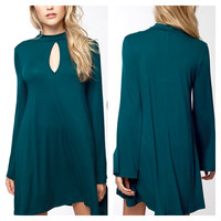 A Lovely Lady Dress in Teal