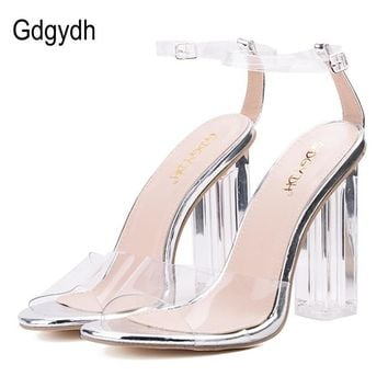 Sexy Women Crystal Heels Open Toed Party Shoes