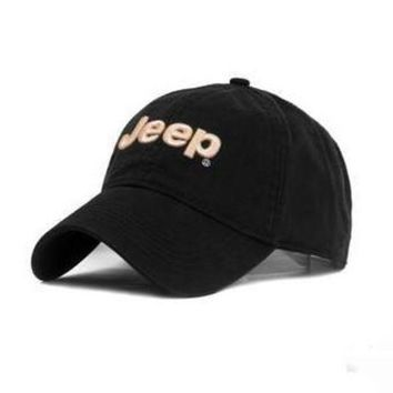 ONETOW JEEP Women Men Embroidery Leisure Sport Sunhat Baseball Cap Hat