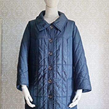 Vintage 1980s Puffer + Quilted Parka Coat