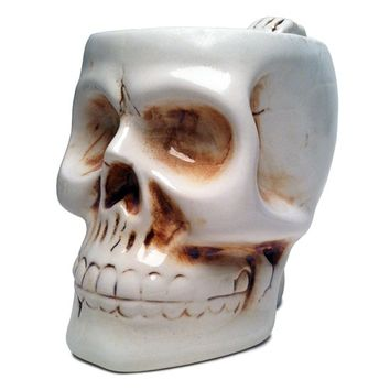 Skull Coffee Mug - Bone