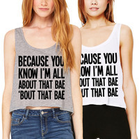 All About That Bae Cropped Tank Top Meghan Trainor Bass