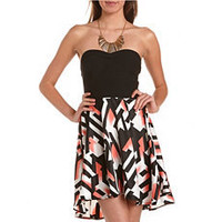 Strappy-Back 2-Fer Tube Dress: Charlotte Russe
