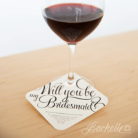 Be My Bridesmaid Wine Glass Tags