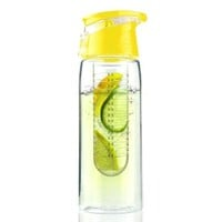 Asobu Pure Flavour 2 Go Water Bottle, Yellow:Amazon:Kitchen & Dining