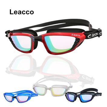 Professional Electroplate Anti-fog UV Swimming Goggles Men Women silicone Waterproof hd Glasses Integrated Eyeglasses with case