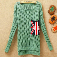 Long Sleeve Pocket Sweater Assorted Colors