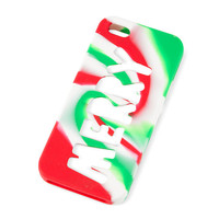 Holiday Merry Cut Out Silicone Cover for iPhone 5, 5s and 5c