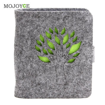 40 Slots Felt Wool Business Cards Bags Card Holders ID Credit Name Business Cards Pocket Pouch Container Bag Wallet Purse SN9