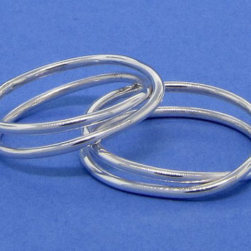 Infinity knot ribbon sterling silver ring love by TDNCreations