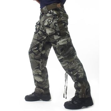 City Hunter Tactical pants Men Multi Pocket Trousers casual Work Pants Cotton rock Camouflage Trousers