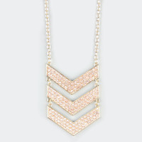 FULL TILT Rhinestone Chevron Necklace