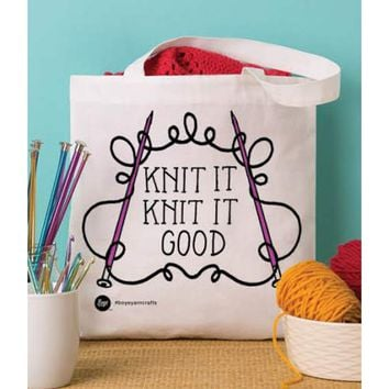 "Knit It Boye Tote Bag 13.5""X13.75"""