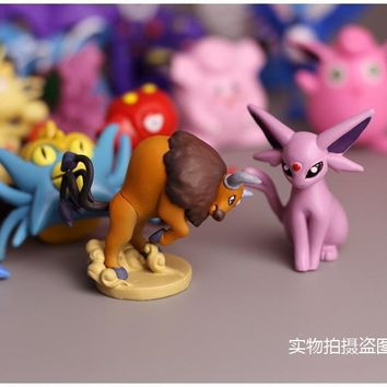 Middle Size Not Repeat 80Style/lot Japanese Pocketed figures ed action pikachued charizard figurine figuras lot K86Kawaii Pokemon go  AT_89_9