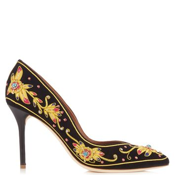 Brenda embroidered velvet pumps | Malone Souliers | MATCHESFASHION.COM US