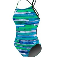 Speedo Color Stroke Cross Back at SwimOutlet.com - Free Shipping