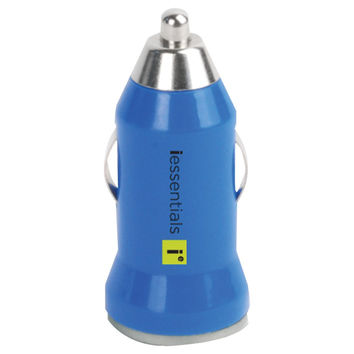 Iessentials Iphone And Ipod And Smartphone Usb Car Charger (blue)
